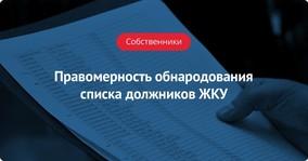 Правомерность обнародования списка должников ЖКУ