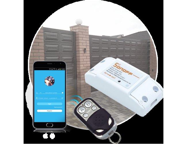 WiFi реле Sonoff RF10A + пульт ДУ, фото 1