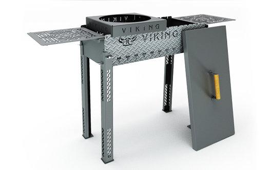 Мангал Viking XL 800х350х835мм сталь 4 мм, фото 1
